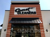 Comet-Cleaners-Houston-TX Sign Install
